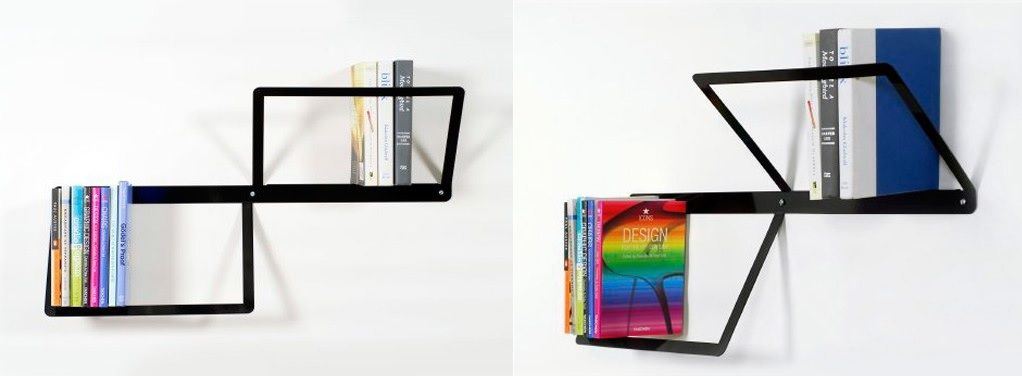 Duo Bookshelf with a 3Ddesign
