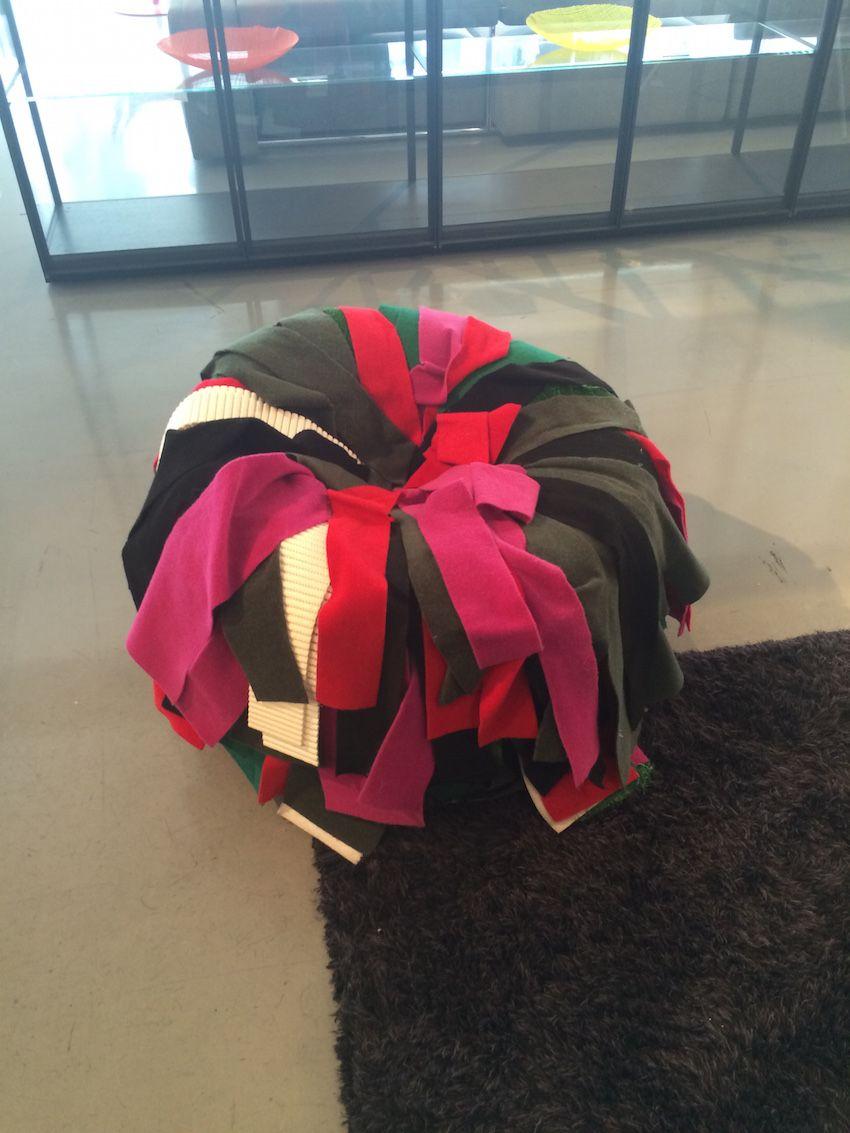 Fabric strip chair