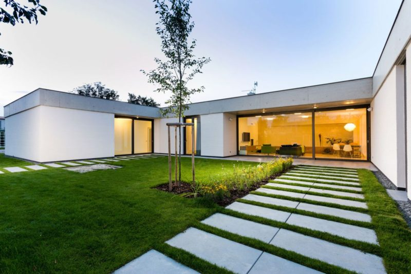 Contemporary Family Home Surrounded By Gardens