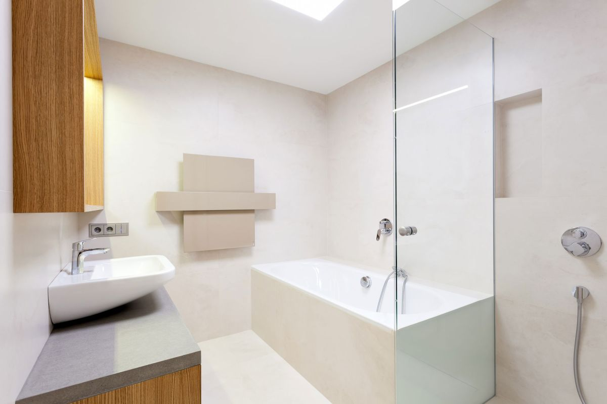 Family home in Slavonin bathroom towel warmer