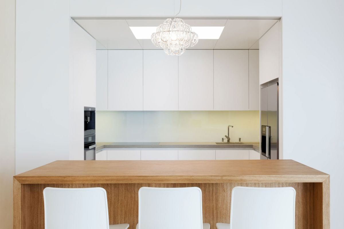 Family home in Slavonin kitchen with skylight