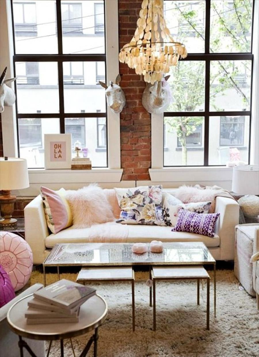 Feminine throw pillows