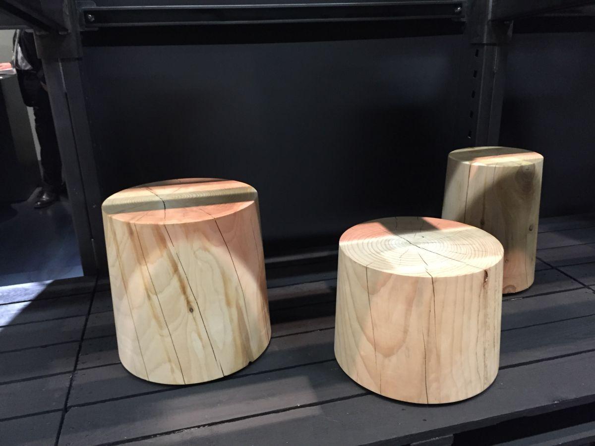 Fiji wood stools