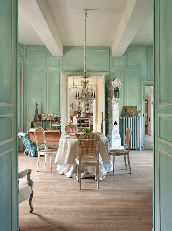 French country pastel decor
