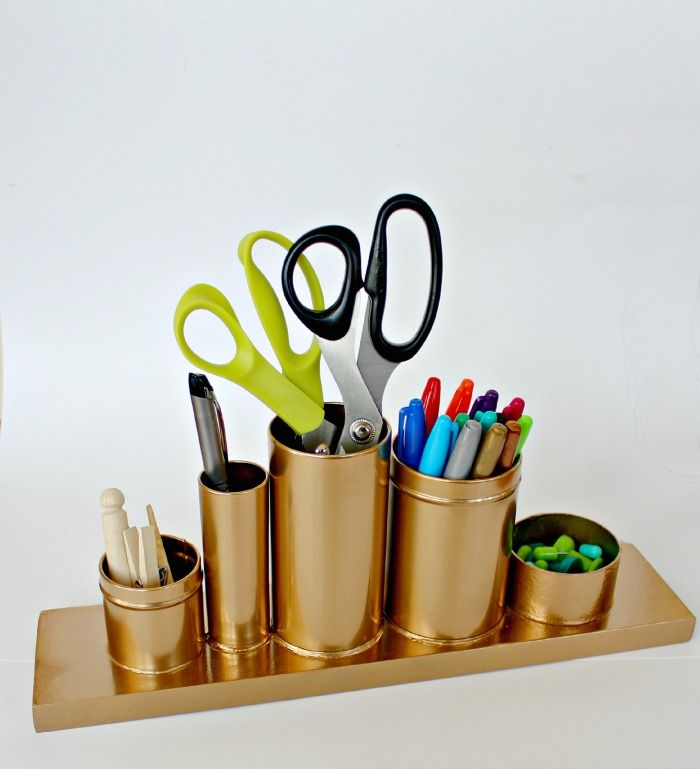 Gold Pencil Holder DIY