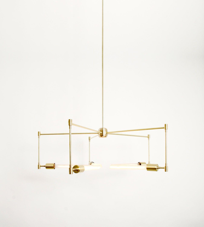 Handmade brass chandelier