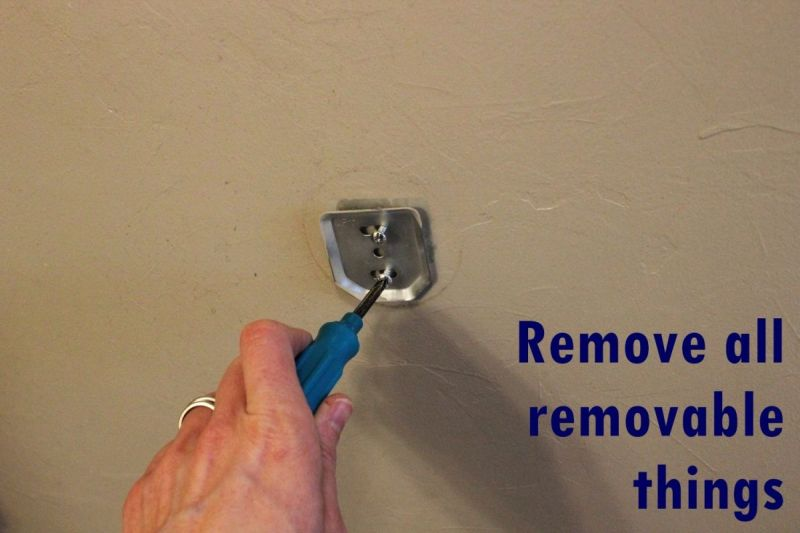 How to Smooth Textured Venetian Plaster Walls - Remove removable things