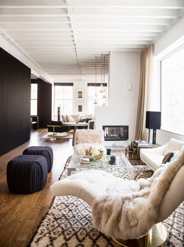 How to organize a long narrow living room