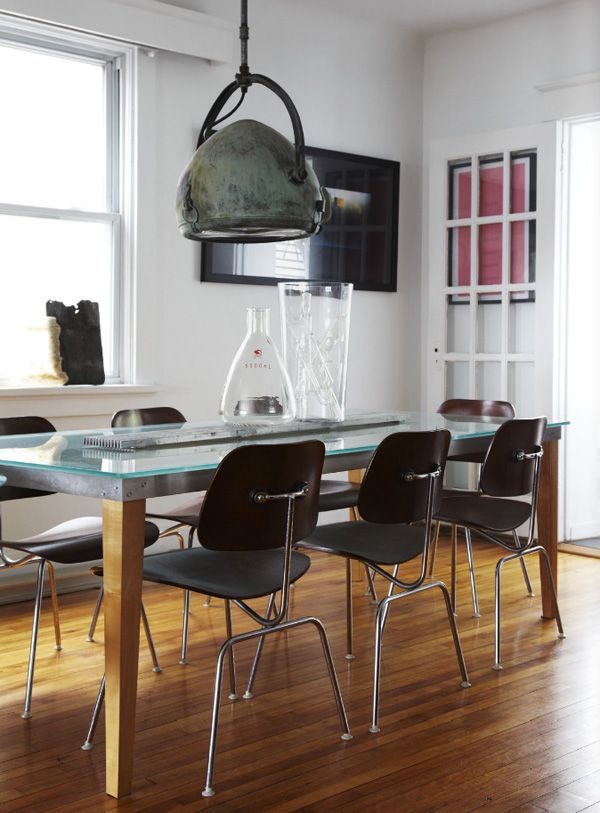 Industrial dining room design lighting