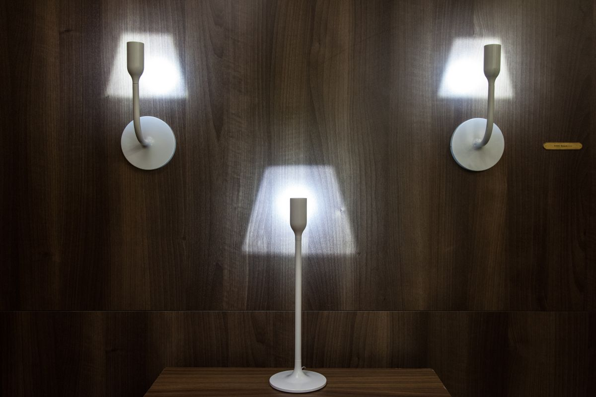 The YOYlight is available in a table version as well as a wall light.