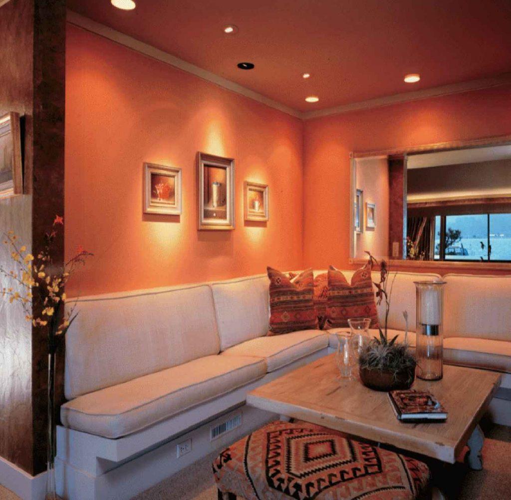 Invigorating Dark Orange mood paint colors