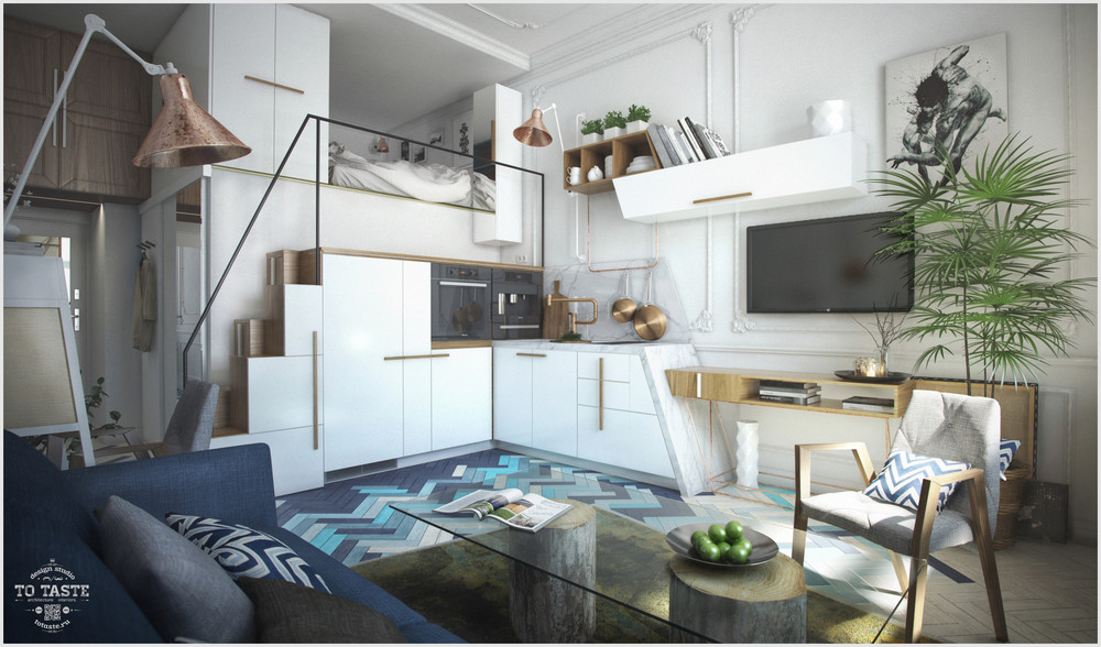Loft apartment in St. Petersburg