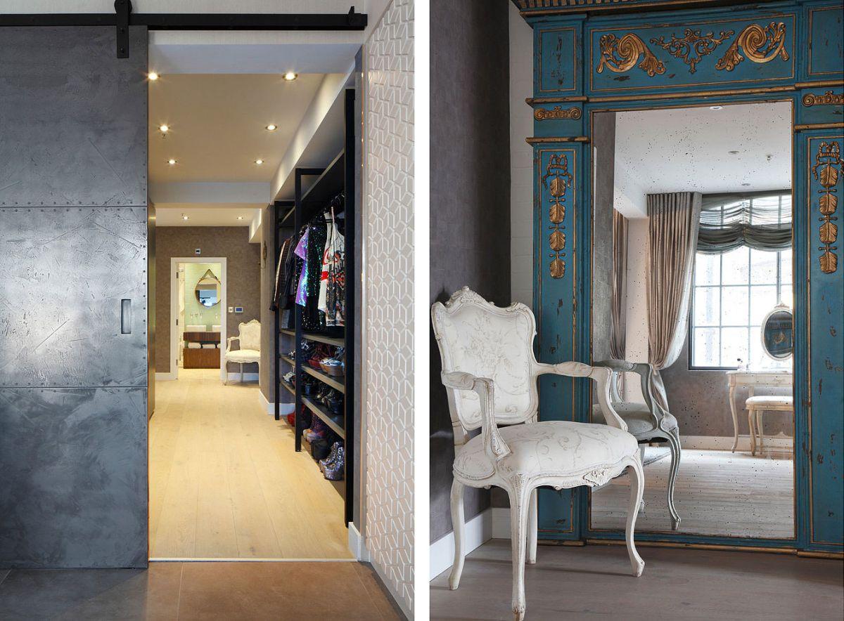 Luxury Loft Apartment bedroom corner and dressing
