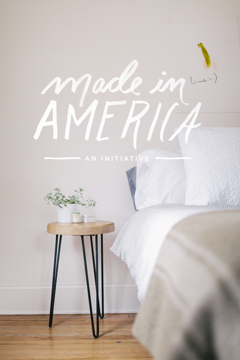 Made in america hairpin nightstand