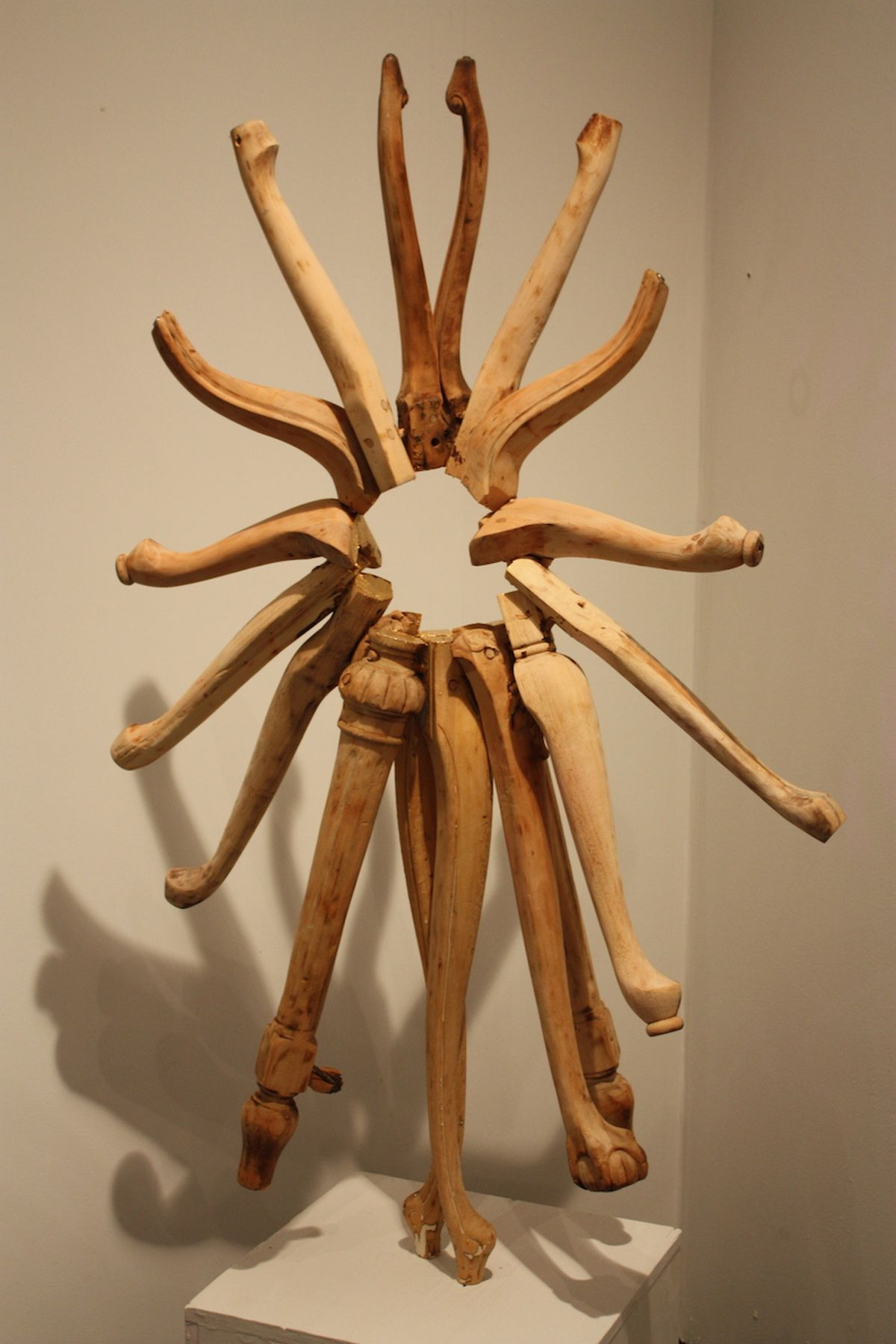 Marc Andre Robinson leg wheel sculpture