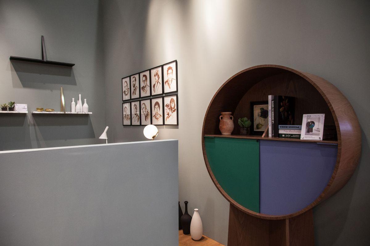 Matériaux round shelf