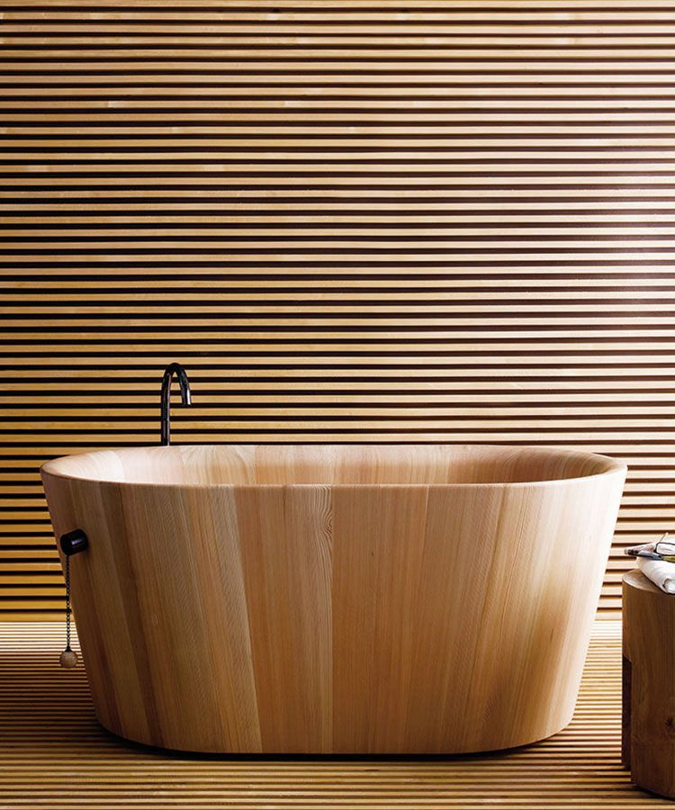 tub using secrets cypress one and inspirations bath spaces room wood echoes made freestanding the its bathtub shape need chos of favorite box simple article a crate in know wooden fragrant photo apple to wet is hinoki you when