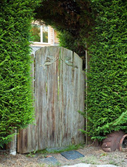 Mermaid on garden doors