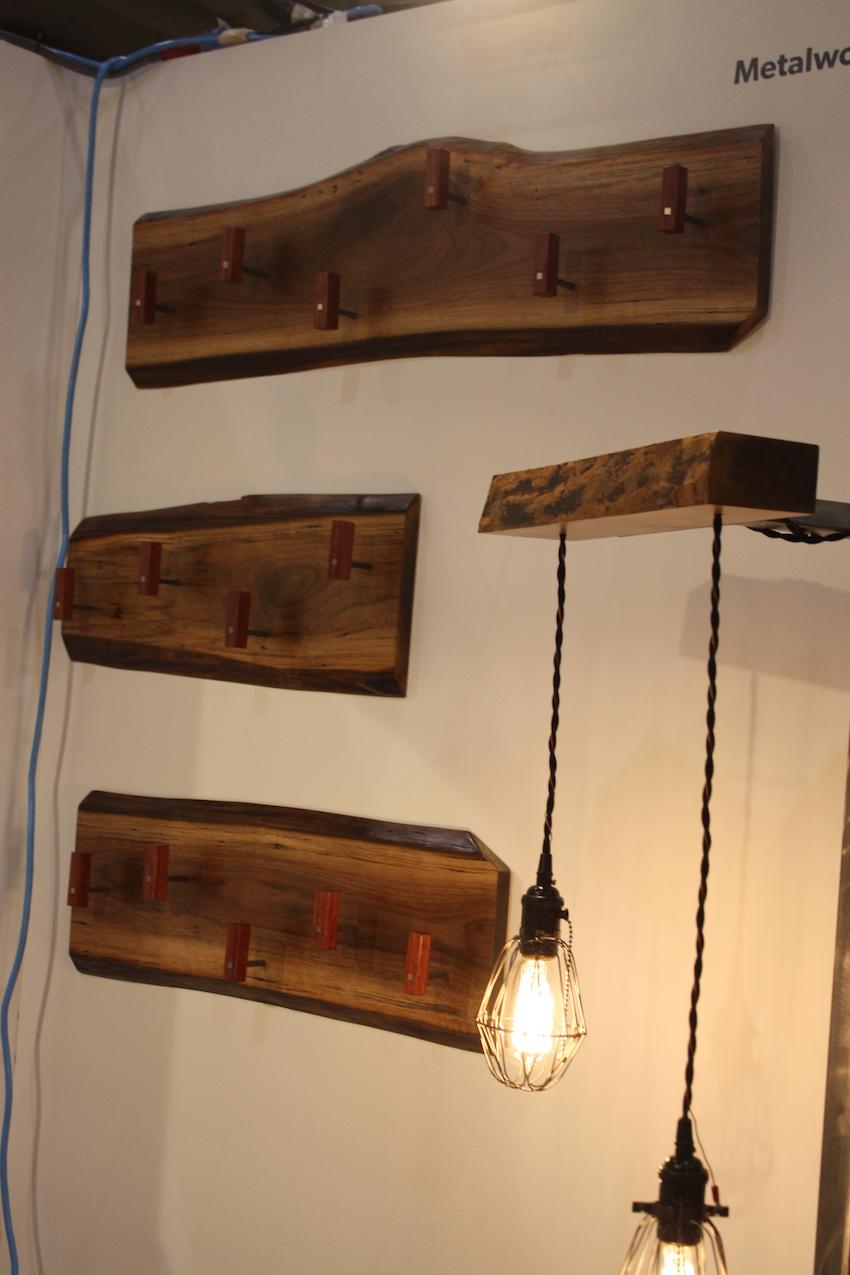 Metalwork coat rack