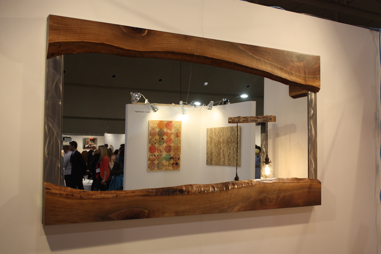 Metalwork live edge mirror