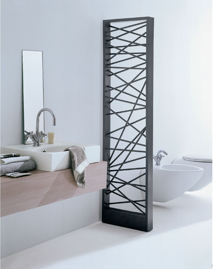 Mikado black towel warmer