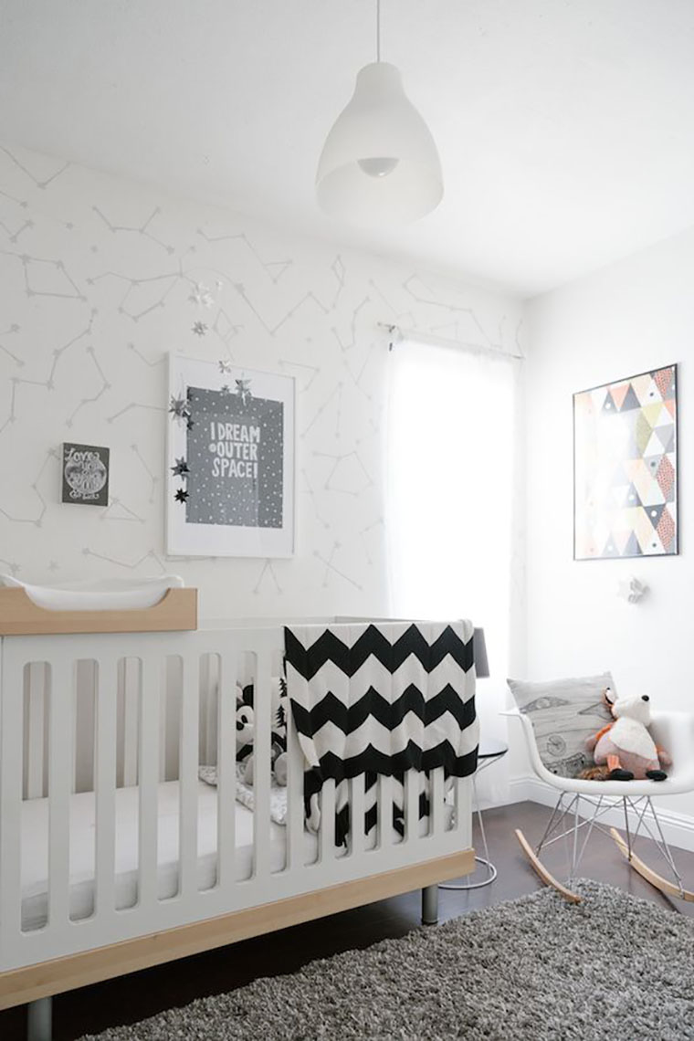 12 gorgeous scandinavian nurseries Scandinavian baby nursery