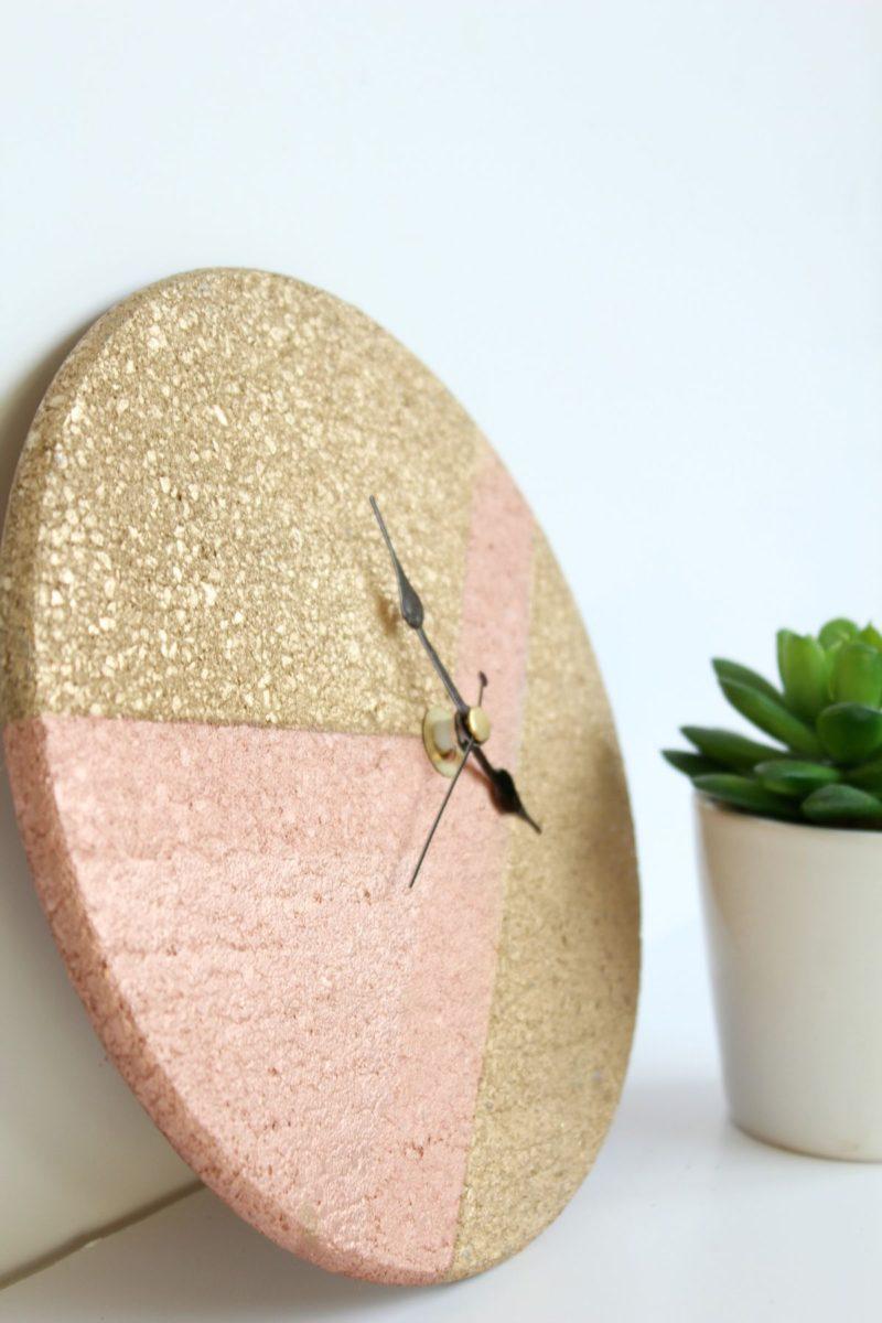 DIY Wall Clock – From Cork Trivet And Clock Kit