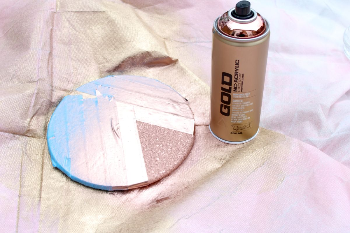 Mixed Metallics Geometric Clock Step 4