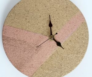 DIY Wall Clock – From Cork Trivet And Clock Kit