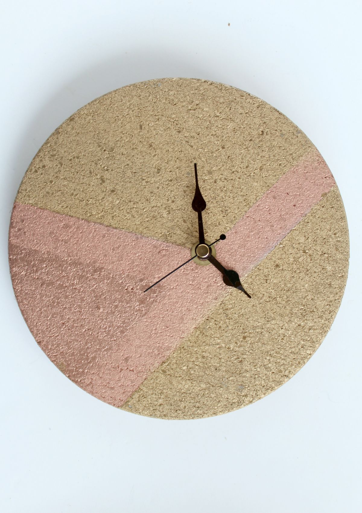 Mixed Metallics Geometric Clock Wall