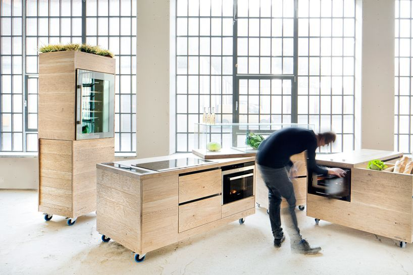 Mobile module kitchen from studio rygalik