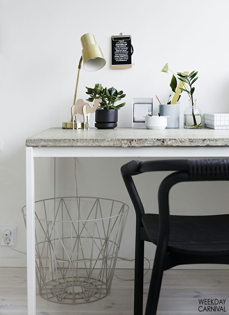 Modern Desk with concrete on top