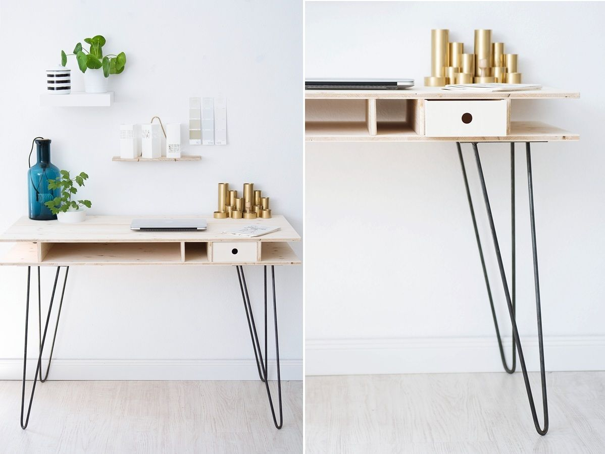 The key to chic diy furniture is a set of hairpin legs - Repose pied bureau ikea ...