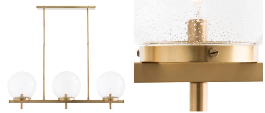 Modern brass lighting