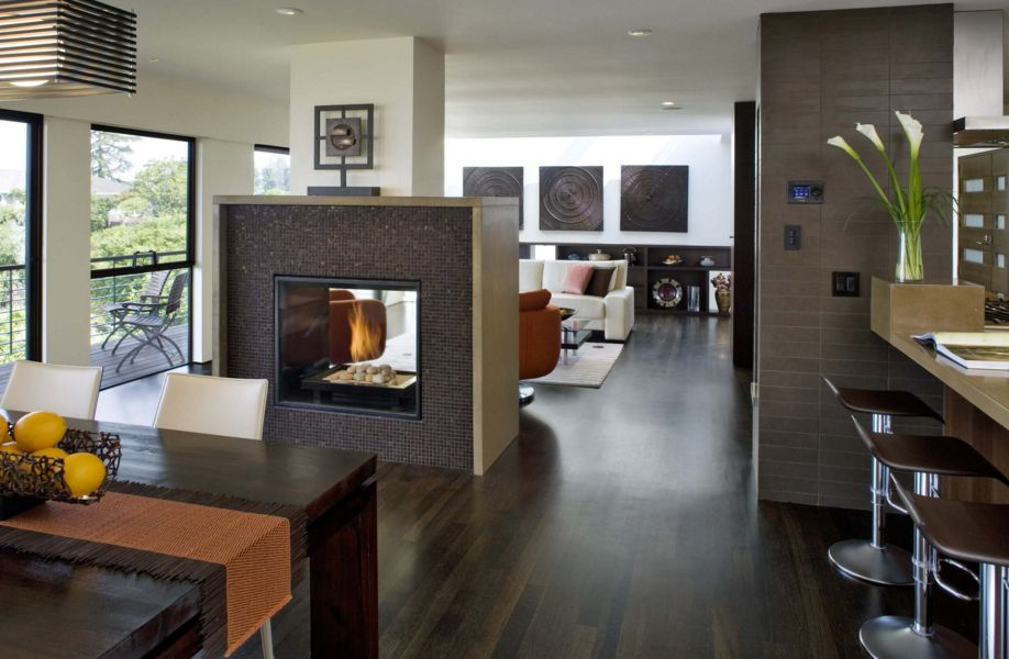 In The Case Of An Open Plan Fireplace Is Positioned To That All
