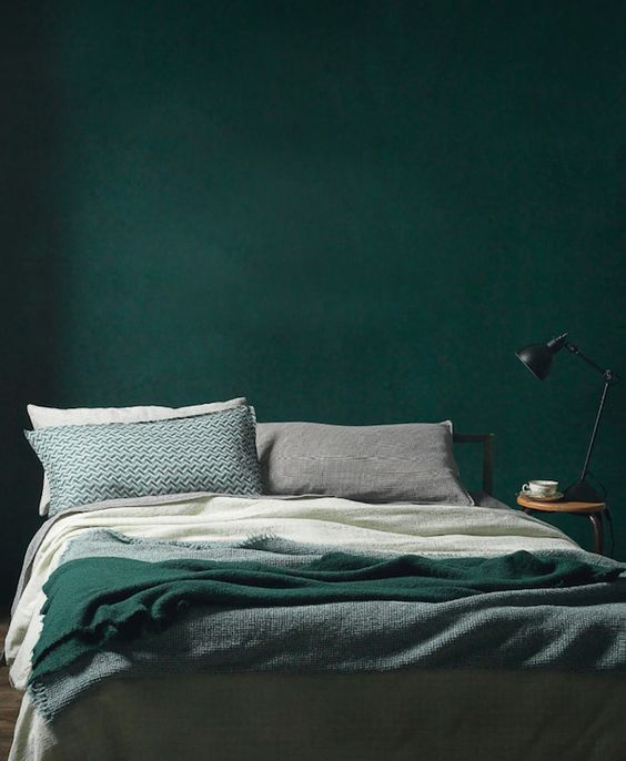 blue and green bedroom. Moody Dark Green Bedroom Blue And