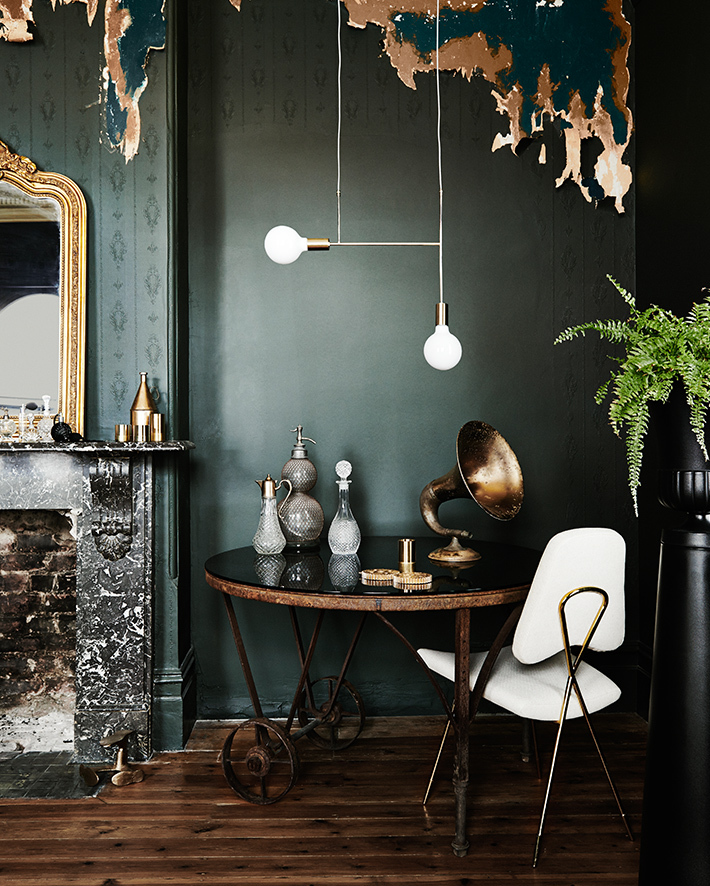 Moody Dark Green Living