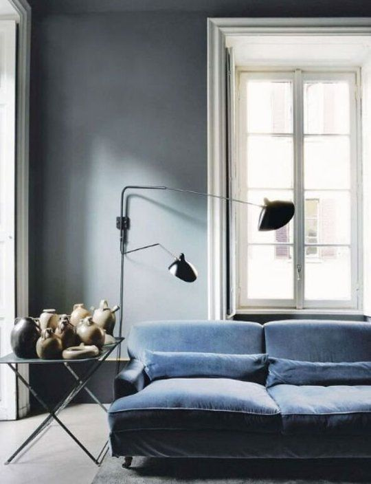 Moody Light Gray Living
