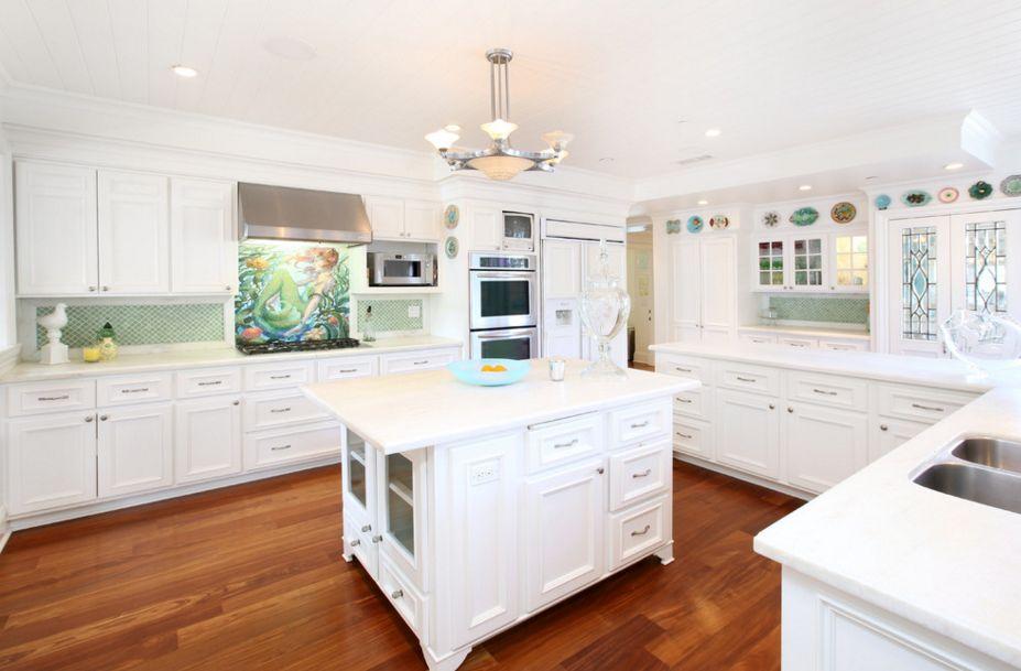 Mosaic mermaid kitchen backsplash