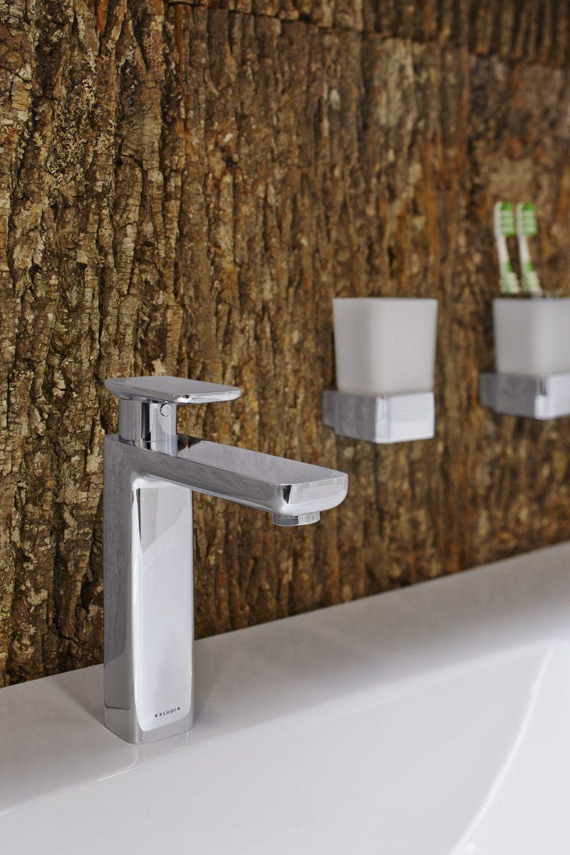 Natural Materials Bark wallpaper for bathroom