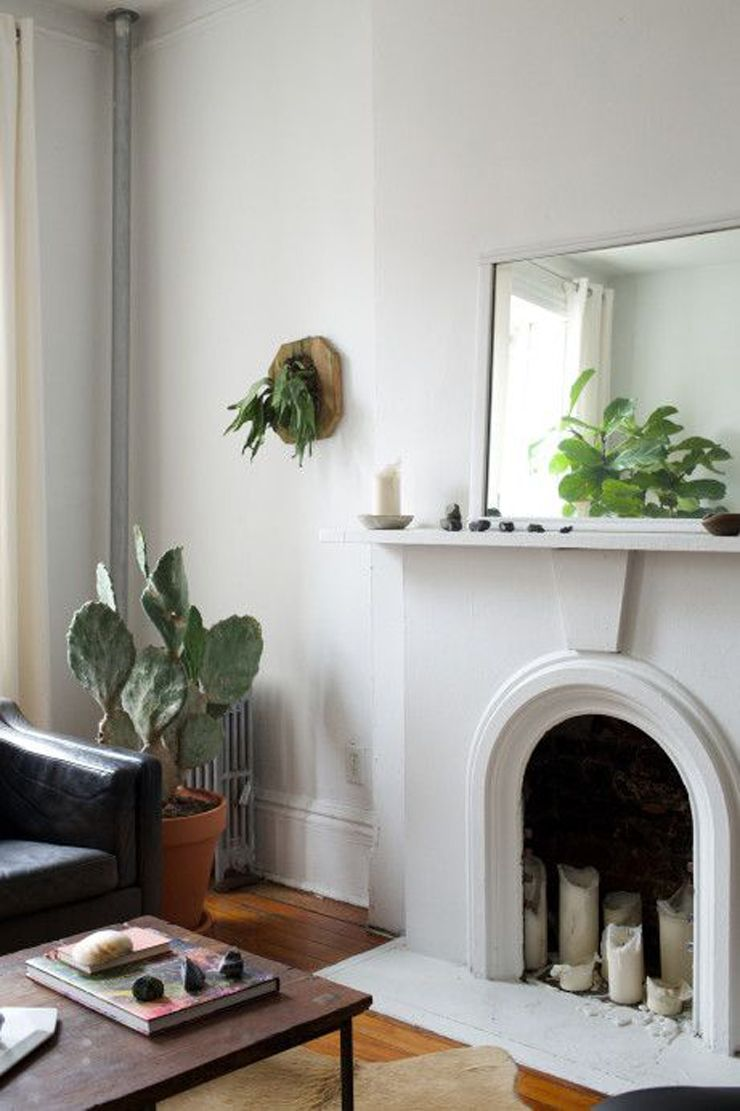 Natural simplicity fireplace mantel
