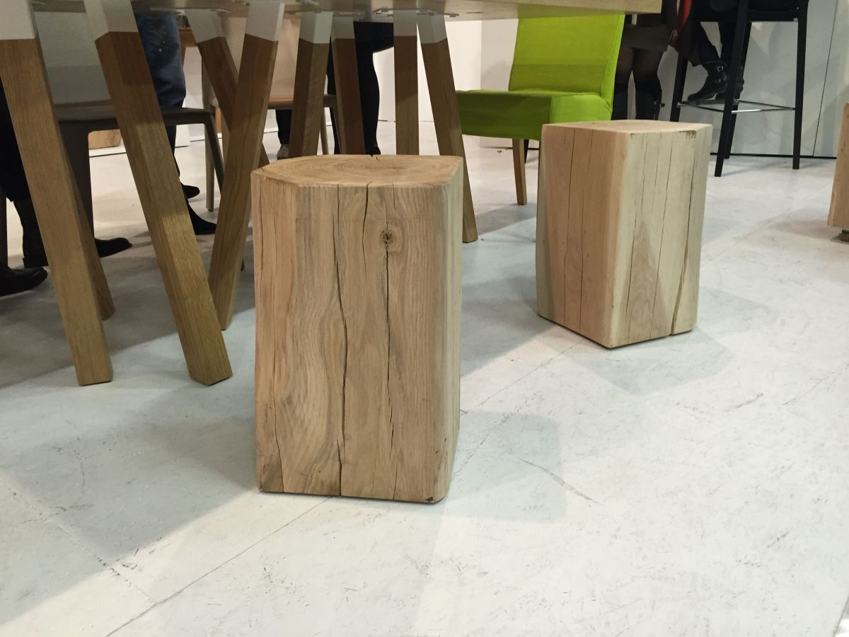 Natural wood stools