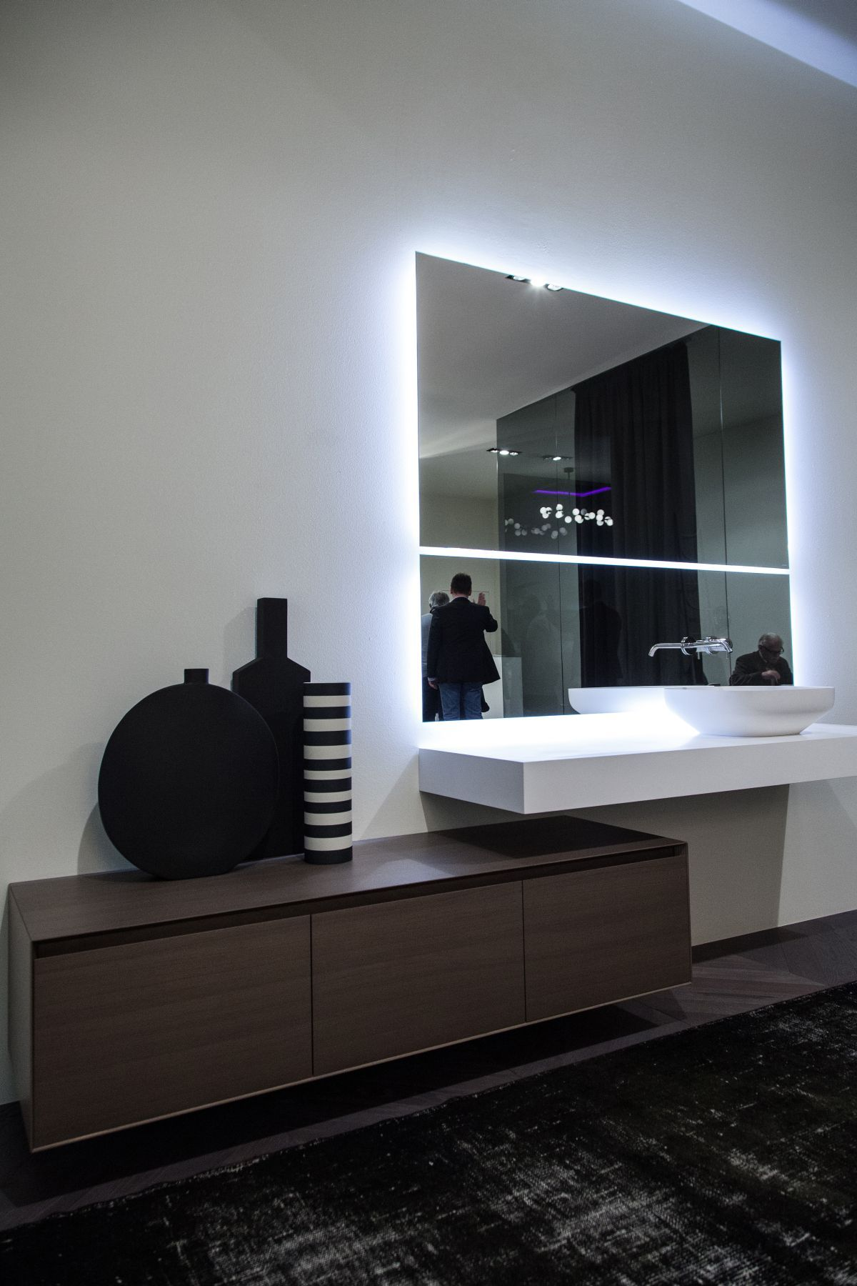 kit a frame mirror design bathroom reflected for