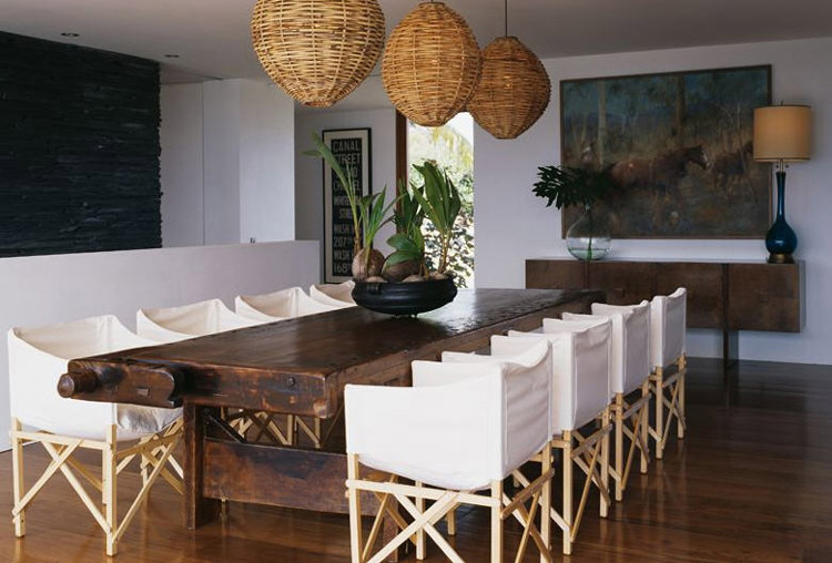 Old and solid furniture can e recycled for dining room