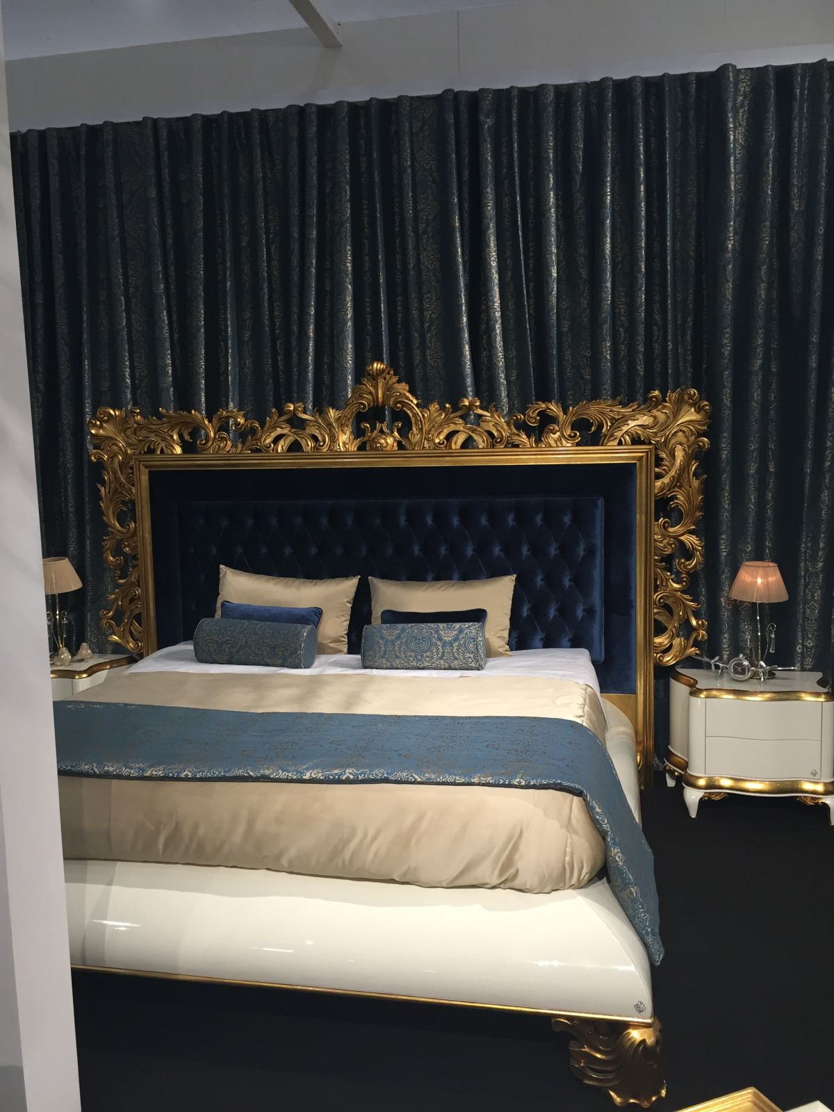 Opulent gold framing bedroom