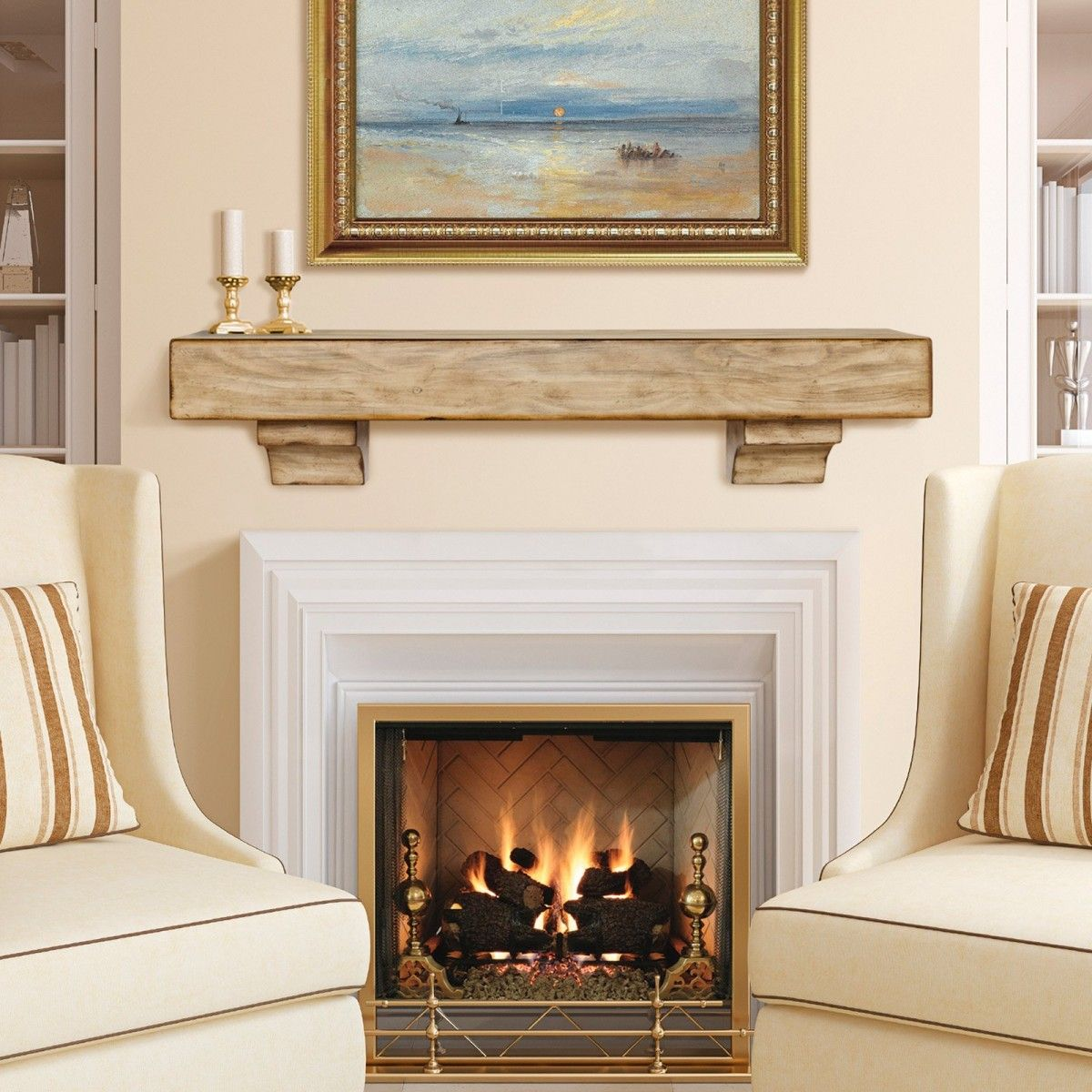 Simple and sophisticated fireplace mantel ideas - Fireplace mantel designs in simple and sophisticated style ...
