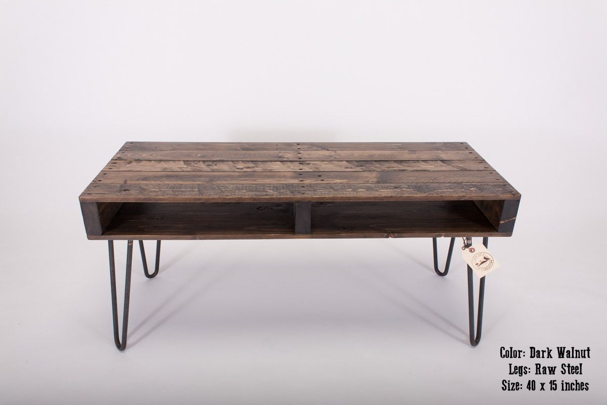 Pallet Coffee Table With Hairpin Legs