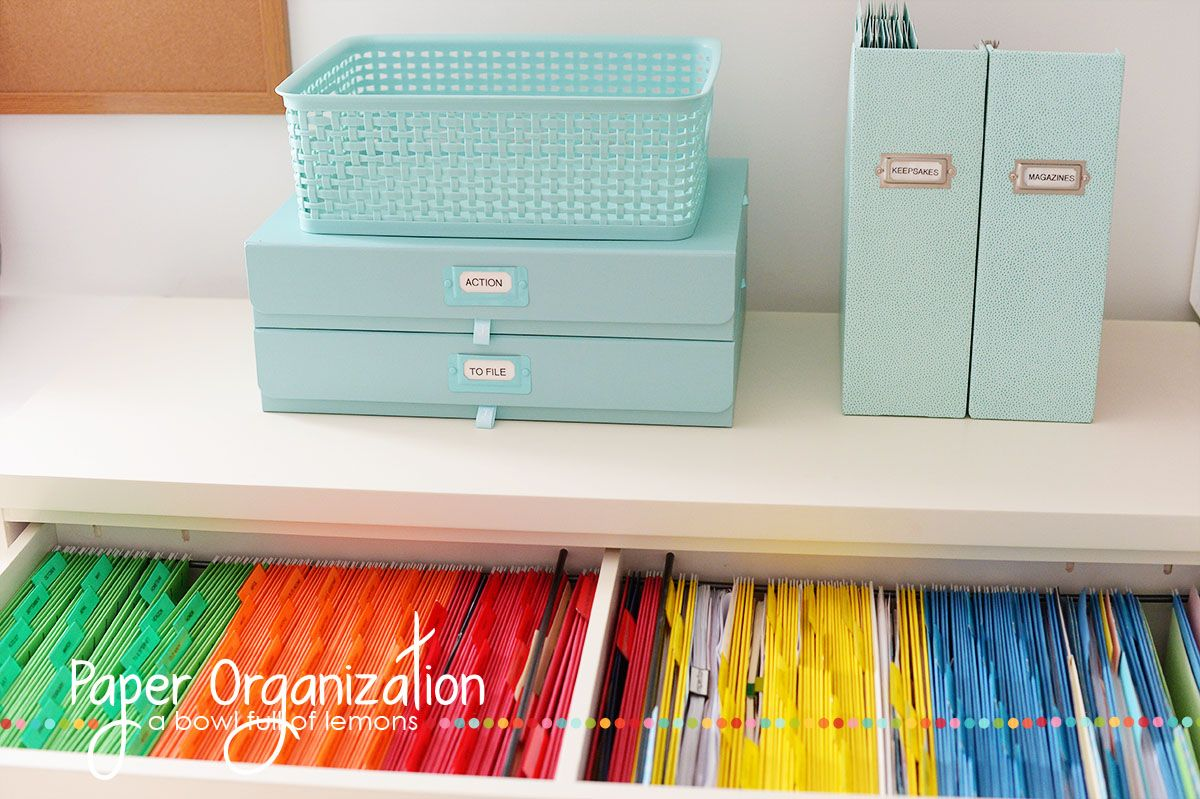 Exceptional Diy Organization Part - 12: Paper Organization DIY
