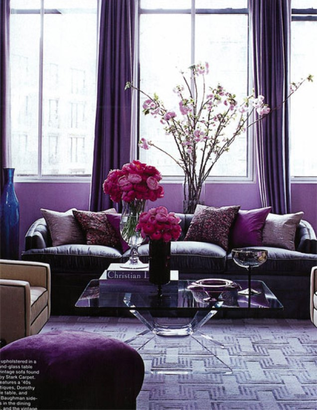 passionate amethyst purple mood paint colors