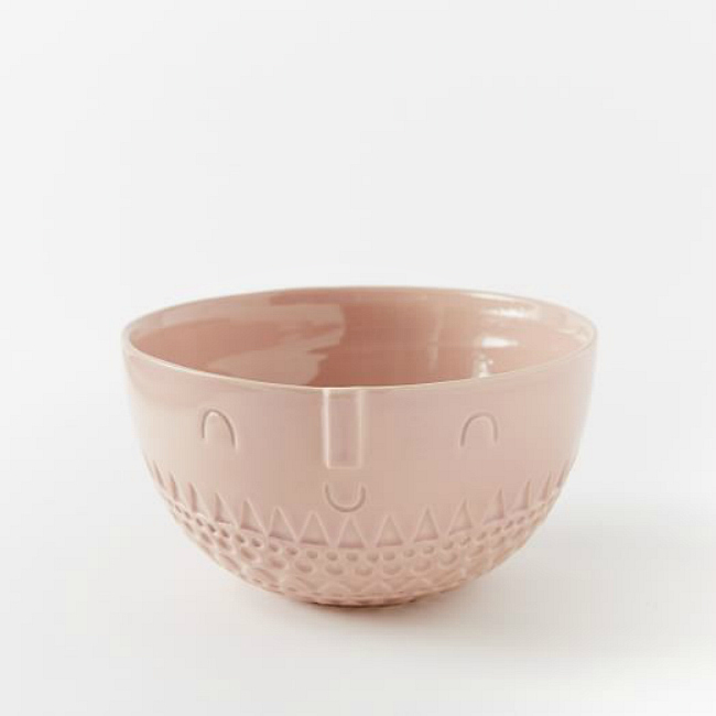 Pink face bowls